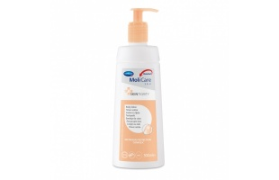 Telové mlieko MoliCare Skin vďaka kreatínu hydratuje pokožku celého tela