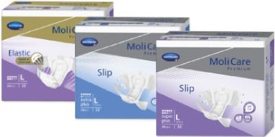 Zalepovacie nohavičky MoliCare Premium s vysokou absorpciou vlhkosti pre rôzne stupne úniku moču