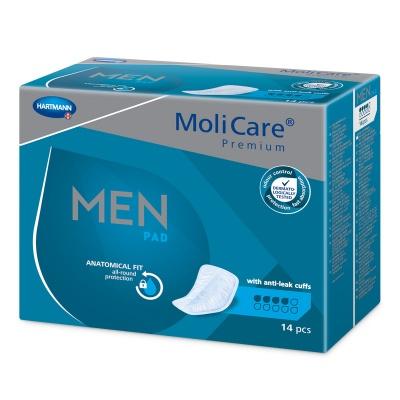 MoliCare Premium Men 4 kvapky (Protect) - špeciálne pomôcky na ľahký únik moču pre mužov