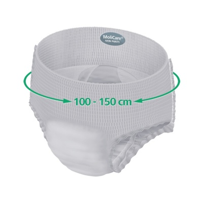 Pánske inkontinenčné nohavičky MoliCare Men Pants 5 kvapiek 80-120 cm