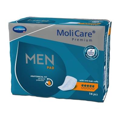 Inkontinenčné vložky MoliCare Men Pad 5 kvapiek pre ľahký únik moču