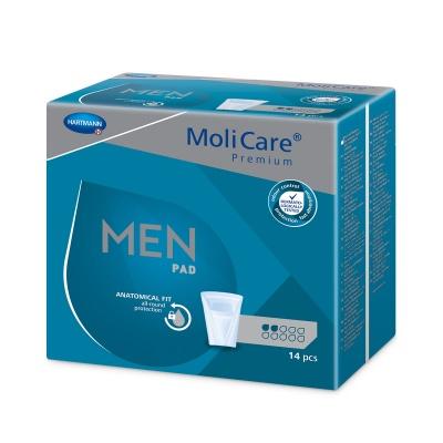 MoliCare Premium Men 2 kvapky (Active) - špeciálne pomôcky na ľahký únik moču pre mužov